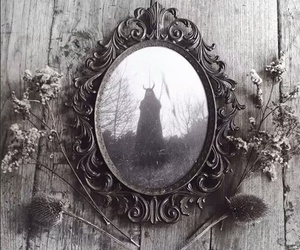 black, mirror, and witch image