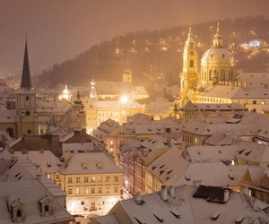 beautiful, snow, and prague image