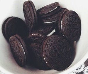 black and white, Cookies, and oreo image