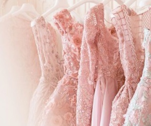 dress, pink, and luxury image