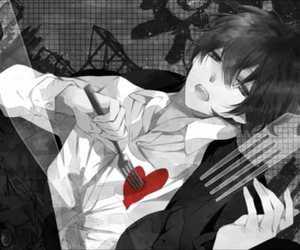 anime, anime boy, and heart image