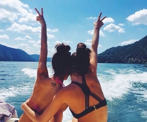 friend, summer, and summer time image