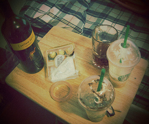 ferrero rocher, frappucino, and wine image