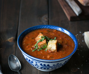 bread, italian, and soup image