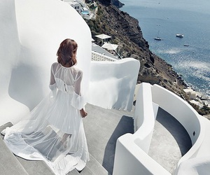 white, Greece, and summer image
