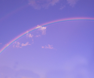 rainbow, purple, and sky image