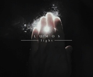 harry potter, lumos, and spell image