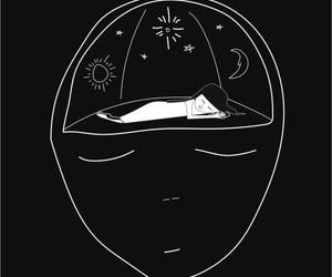black, art, and sleep image