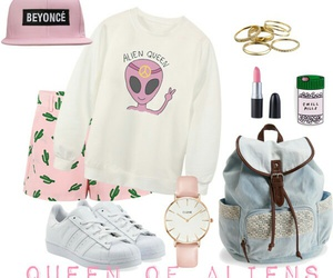 alien, fashion, and Polyvore image