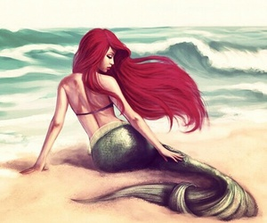 ariel, art, and cheveux image