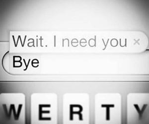 bye, wait, and need image