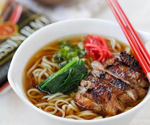 Chicken, food, and ramen image