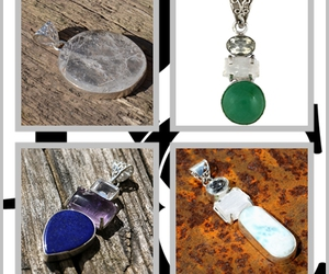 gemstone pendants, crystals and gemstones, and jewellery statements image