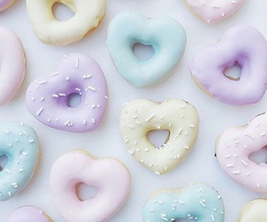 pastel, donuts, and food image