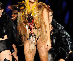 blonde, concert, and Lady gaga image