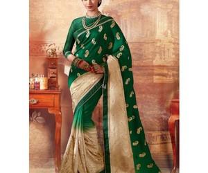 clothing, fashion, and saree image