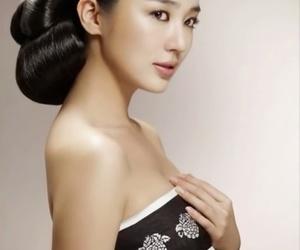 korean girl, yoon eun hye, and hanbok image