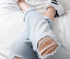 adidas, superstar, and jeans image