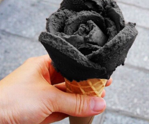ice cream, rose, and food image