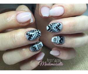 art, grey, and nail art image