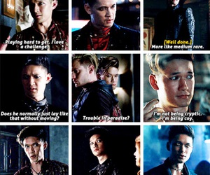 jace, magnus, and tv series image