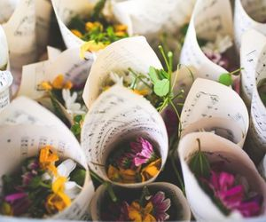 flowers, music, and bouquet image