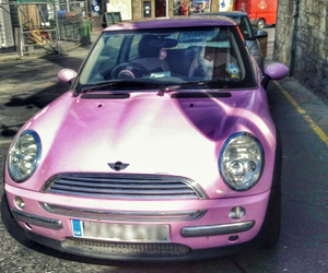 car, cooper, and girly image