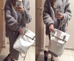 backpack, fashion, and knitwear image