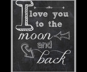 love, moon, and I Love You image