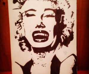 art, blackandwhite, and stencil image