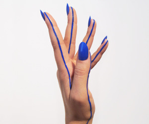 blue, art, and hand image