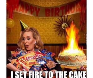 Adele, birthday, and joking image