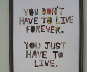 live and typography image
