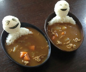 food, funny, and rice image