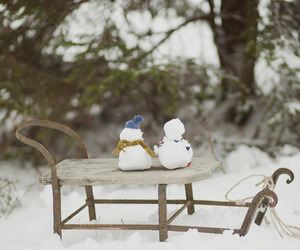 snow, snowman, and sweet image
