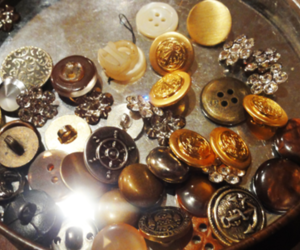 antique, buttons, and gold image