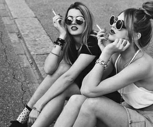 best friends, pretty, and smoke image