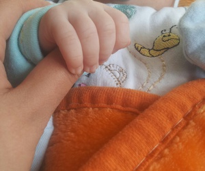 baby, finger, and hand image