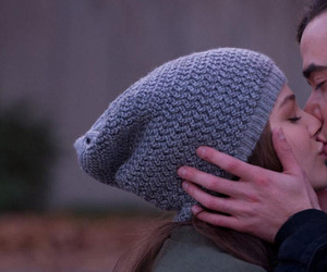 couple, kiss, and if i stay image