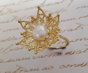 etsy, flower rings, and edwardian ring image