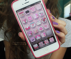 iphone, pink, and apps image
