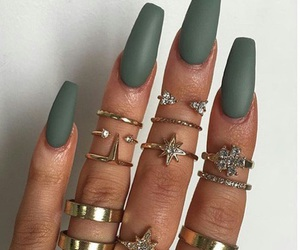 green, rings, and army green image