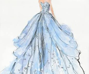 cinderella, dress, and blue image