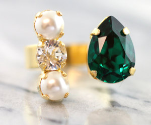 crystal, emerald, and etsy image