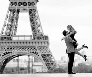 couple, girl, and paris image