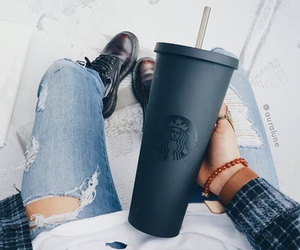 starbucks, black, and drink image