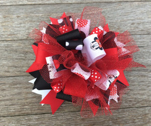 etsy, hairbow, and minnie mouse bow image
