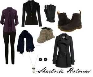 outfit, sherlock, and style image