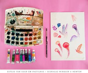 aquarela, colors, and watercolor image