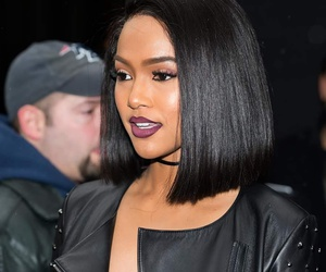 choker, karrueche tran, and bob cut image